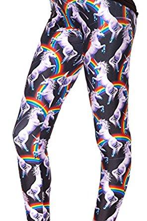 crazy unicorn leggings