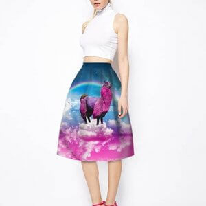 lama unicorn skirt