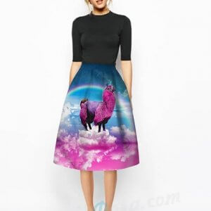 big waist unicorn skirt