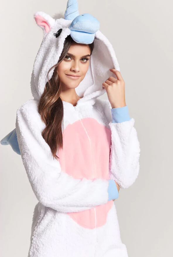 e6d98fe3e27f Plush White Unicorn Onesie - I ♥ unicorns