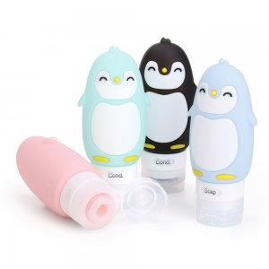 Travel Size Squeeze Bottles With Cute Animal Faces