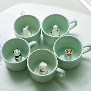 Ceramic Coffee Mugs With Animals Inside