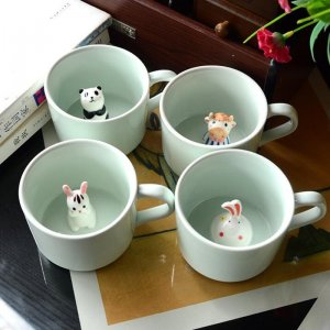 hidden animal mug
