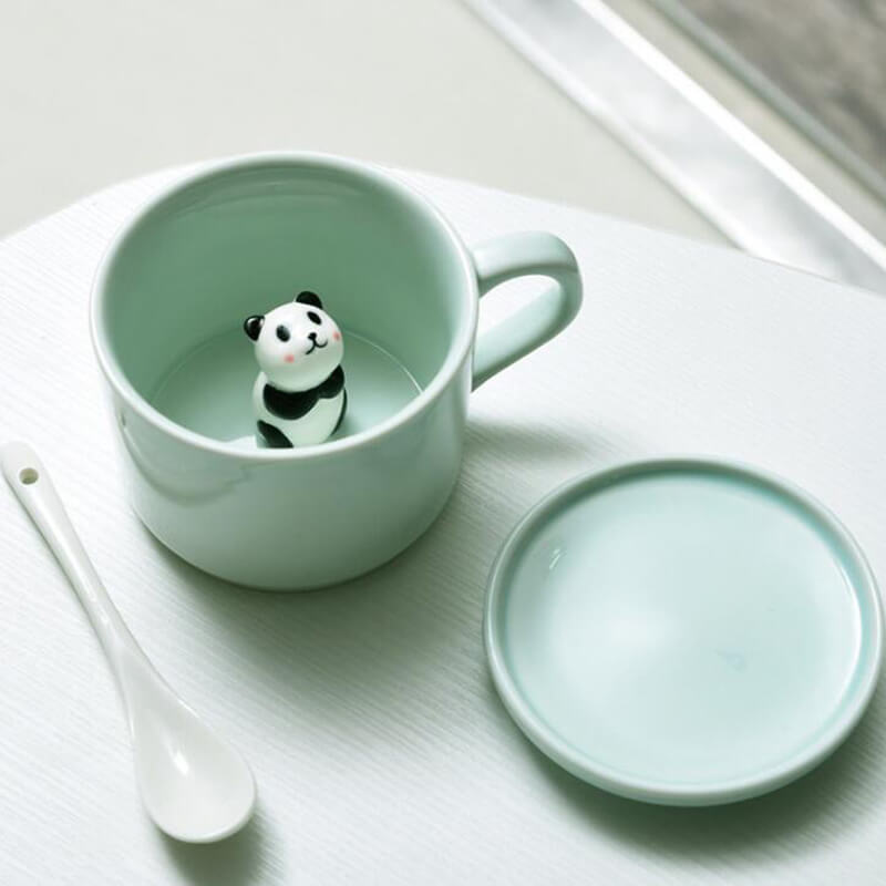 Ceramic Coffee Mugs With Animals Inside Animal Surprise Mugs