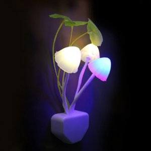 LED Mushroom Night Light With Light Sensor Image 2
