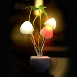 LED Mushroom Night Light With Light Sensor Image 1