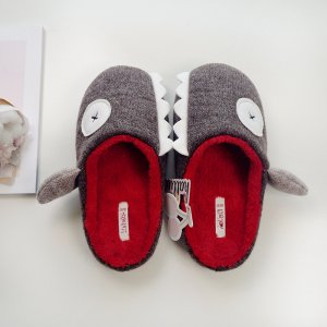 Warm Cotton Shark Slippers For Adults Image 2