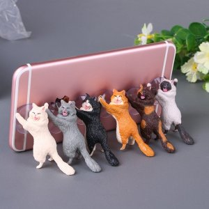 Adorable Cat Phone Holder Image 1