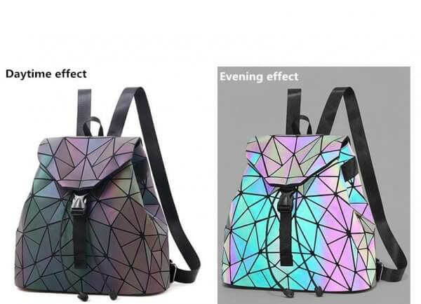 iridescent backpack